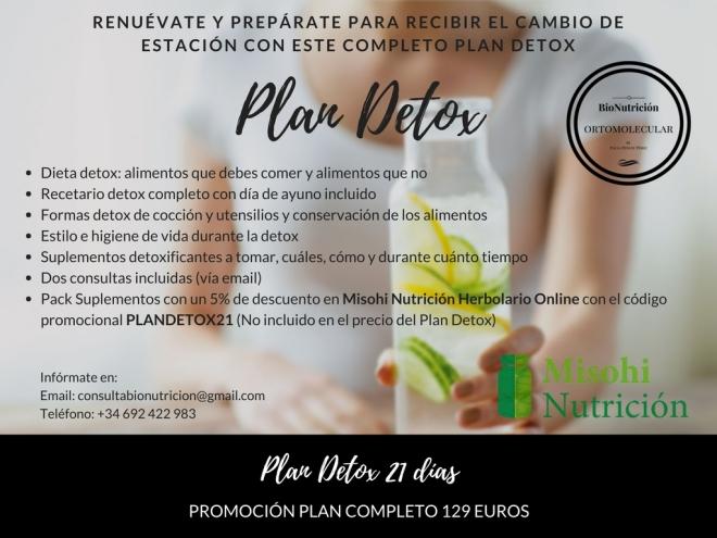 Plan Detox 21 días-Bionutrición Ortomolecular-Misohi Nutrición Herbolario Online
